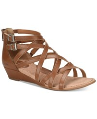 B.O.C. Mimi Wedge Sandals Women's Shoes Light Brown