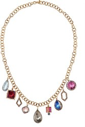 Larkspur And Hawk Lady Emily 14 Karat Gold Rhodium Dipped Multi Stone Necklace One Size