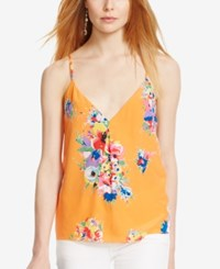 Polo Ralph Lauren Twill T Back Tank Summer Melon Floral
