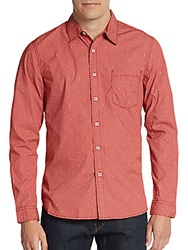 Life After Denim Bandana Printed Cotton Sportshirt Red Snapper