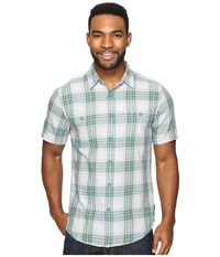 Royal Robbins Point Reyes Plaid Short Sleeve Shirt Conifer Men's Short Sleeve Button Up Green