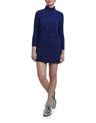 Hunter Bell Polly Long Sleeve Turtleneck Mini Dress Blue
