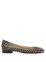 Christian Louboutin Babaspikes Silver Spike Leather Pumps Black Silver