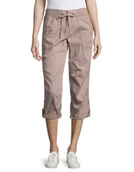 Lord And Taylor Poplin Roll Up Pants Santa Fe