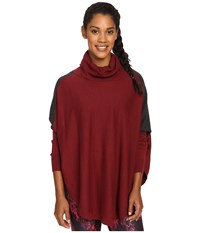 Lole Miki Poncho Rumba Red Heather Women's Coat Pink