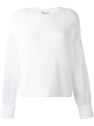 Red Valentino Ribbed Jumper White
