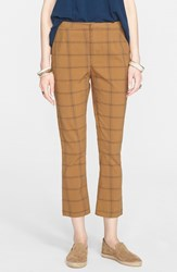 Women's Free People High Rise Crop Flare Pants Creme Brulee
