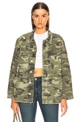 Rosie Jacket In Camo Green Camo Green