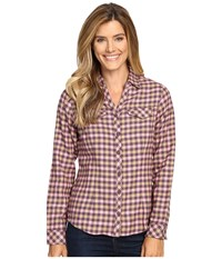 Columbia Simply Put Ii Flannel Shirt Dusty Purple Check Women's Long Sleeve Button Up
