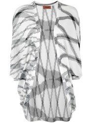 Missoni Flamed Open Front Long Top White