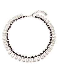 Uno De 50 Sterling Silver And Leather Necklace