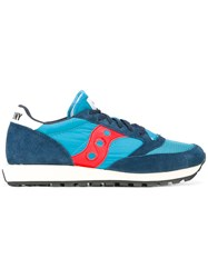 Saucony Lateral Patch Lace Up Sneakers Blue