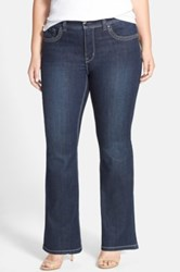 Melissa Mccarthy Seven7 Embellished Pocket Stretch Bootcut Jeans Ancient Plus Size Blue