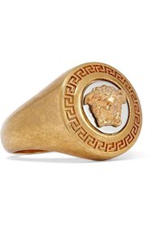Versace Gold And Silver Tone Ring 13