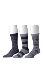Muk Luks Assorted Socks Pack Of 3 Gray