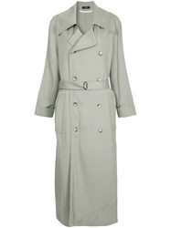 Bassike Classic Trench Coat Grey