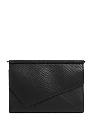 Kendall Kylie Ginza Snake Embossed Leather Clutch