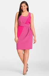Plus Size Women's Mynt 1792 Colorblock Box Pleat Sheath Dress