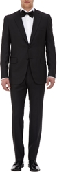 Isaia Aquaspider Gregory Two Button Tuxedo Black