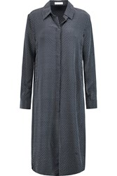 Equipment Pascal Polka Dot Silk Crepe De Chine Tunic Gray