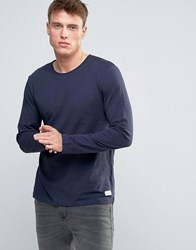 Esprit Long Sleeve Top In Navy Marl Navy