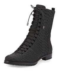 Benjamine Python Lace Up Boot Black Alexandre Birman