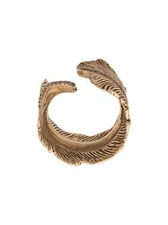 M Cohen M. 14K Gold Feather Ring