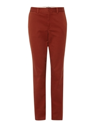Lands' End Mid Rise Straight Leg Chinos Bronze