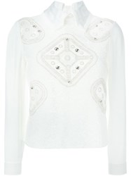 Peter Pilotto Embellished Top White