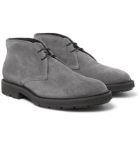 Tod's Suede Desert Boots Gray
