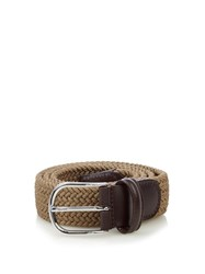 Andersons Woven Elasticated Belt Beige