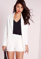 Missguided Boyfriend Suit Blazer White White