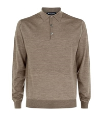 Aquascutum London Wells Silk Polo Sweater