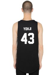 Les Artists Yohji Printed Cotton Jersey Tank Top