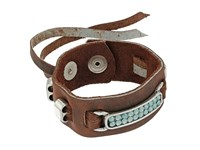 Leather Rock B727 Kodiak Black Walnut Bracelet Brown