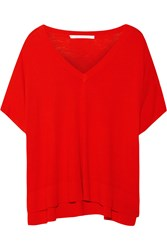 Diane Von Furstenberg Honey Silk And Cashmere Blend Sweater Red