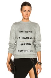 Anthony Vaccarello Printed Sweatshirt In Gray