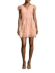 Erin By Erin Fetherston Alicia Floral Lace Fit And Flare Dress Peach