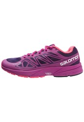 Salomon Sonic Aero Neutral Running Shoes Cosmic Purple Azalee Pink Madder Pink