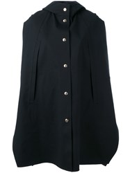 Mackintosh Button Up Hooded Coat Blue