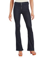 Free People Cotton Stretch Flared Jeans Blue