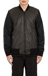Christopher Raeburn Tech Fabric And Mesh Bomber Jacket Black