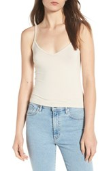 Hinge V Neck Camisole Beige Rainy Day