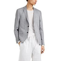 Barneys New York Silk Tweed Sportcoat Gray