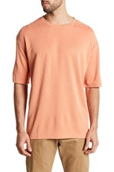Burma Bibas Short Sleeve Slub Shirt Orange