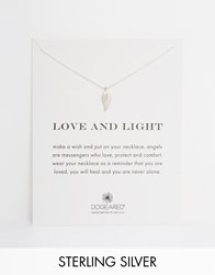 Dogeared Love And Light Angel Wing Necklace Silver