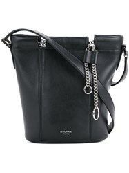 Rochas Small Bucket Bag With Chain Women Calf Leather One Size Black