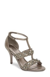 Adrianna Papell Amabel Sandal Pewter Lace Fabric