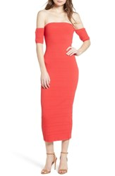 Trouve Tube Sweater Dress Red Poppy
