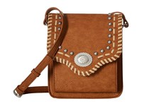 American West Los Alamos Crossbody Flap Bag Tan Cross Body Handbags